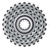 Bicycle gear cogwheel sprocket icon. Illustration for the web Royalty Free Stock Photos