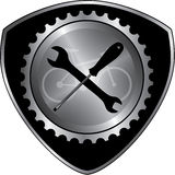 Bicycle gear design. Bicycle gear part for service design royalty free illustration