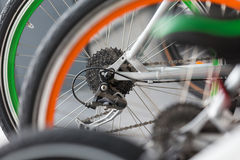 Bicycle gear detail Stock Photos