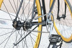 Bicycle, Gear, Golden, Hipster Stock Image