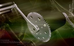 Bicycle gear and pedal Royalty Free Stock Images