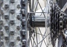 Bicycle gear road, metal cogwheel Stock Photography
