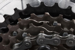 Bicycle gear set Stock Photo