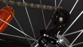Bicycle gear and wheel stock video footage
