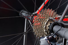 Bicycle gears chain system Royalty Free Stock Images