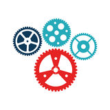 Bicycle gears emblem icon. Vector illustration design Stock Image