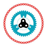 Bicycle gears emblem icon Royalty Free Stock Images