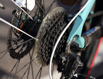 Bicycle gears and rear derailleur Stock Images
