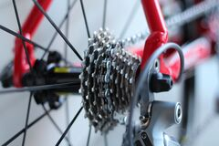 Bicycle Gears and Spokes Stock Images