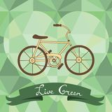 Bicycle on a geometric background Royalty Free Stock Photography