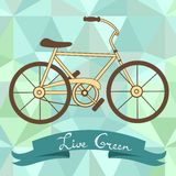 Bicycle on a geometric background Stock Photos