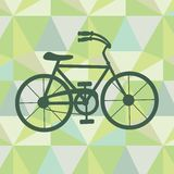 Bicycle on a geometric background Stock Images