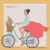 Bicycle girl Stock Photos