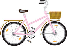 Bicycle for a girl Royalty Free Stock Photography