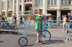 Bicycle for girls for all to see Stock Photo