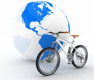 Bicycle and globe Stock Photo