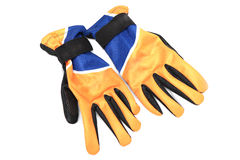 Bicycle gloves. On white background Stock Photography