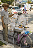 Bicycle Goldfish Salesman Royalty Free Stock Photo