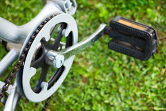 Bicycle on grass Royalty Free Stock Photos