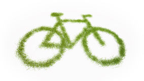 Bicycle grass Royalty Free Stock Photography