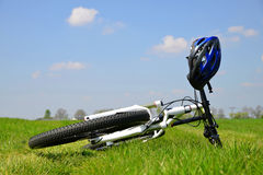 Bicycle on the grass Stock Photos