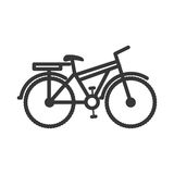 Bicycle gray scale contour to the right. Vector illustration Royalty Free Stock Image