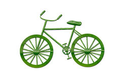 Bicycle by green leaf Royalty Free Stock Images