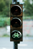 Bicycle green light Royalty Free Stock Photo