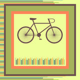 Bicycle. greeting card Stock Photography
