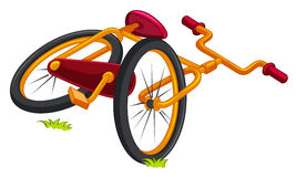 Bicycle on the ground Royalty Free Stock Photo
