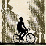 Bicycle Grunge Stock Photography