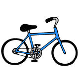 Bicycle. Hand drawn simplified illustration of bicycle Stock Images