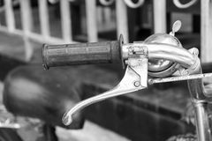 Bicycle handle bar Black and white Stock Photos