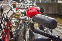 Bicycle handle closeup Royalty Free Stock Photos