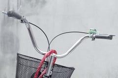 Bicycle handlebar with brake Royalty Free Stock Images
