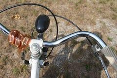 Bicycle handlebar of Women Stock Photography