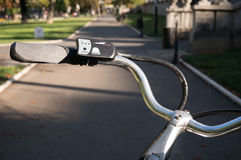 Bicycle handlebars Royalty Free Stock Images