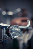 Bicycle headlight detail Stock Images