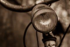 Bicycle Headlight closeup sepia tones Stock Photography