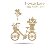 Bicycle with heart Royalty Free Stock Photos
