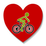Bicycle in the heart Stock Photo