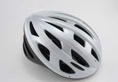 Bicycle helmet. Close up of white bicycle helmet Royalty Free Stock Photography