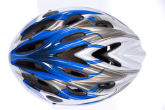 Bicycle helmet. A cross-country bicycle helmet Royalty Free Stock Photography