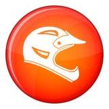Bicycle helmet icon, flat style Royalty Free Stock Photo