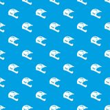 Bicycle helmet pattern seamless blue Royalty Free Stock Images