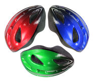 Bicycle Helmets Stock Photography
