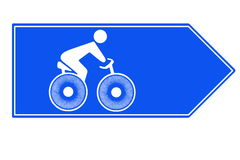 Bicycle highway Royalty Free Stock Images
