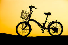 Bicycle on the hill Royalty Free Stock Image