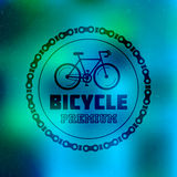 Bicycle hipster logo Royalty Free Stock Photos