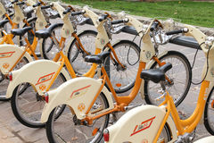 Bicycle hire Royalty Free Stock Photography